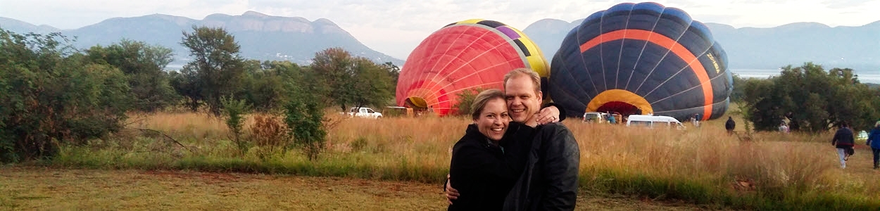 About Us - Hank & Lynne - Hot Air Balloon Ride - Magaliesburg - South Africa