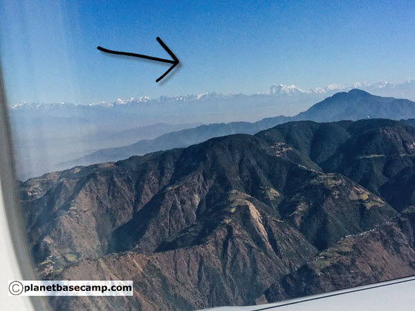 Everest Base Camp Trek - Airplane View of Himalayas