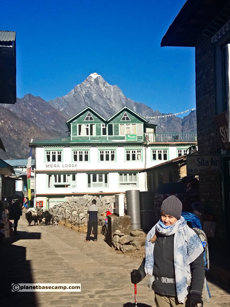 Everest Base Camp Trek - Lukla with Ngothung Ri in the Background