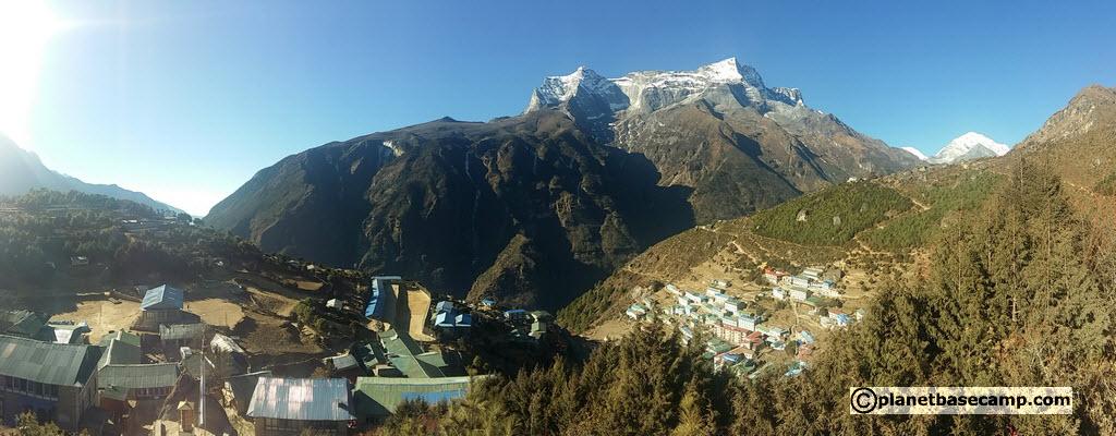 Everest Base Camp Trek - Namche Bazaar and Surrounding Mountains