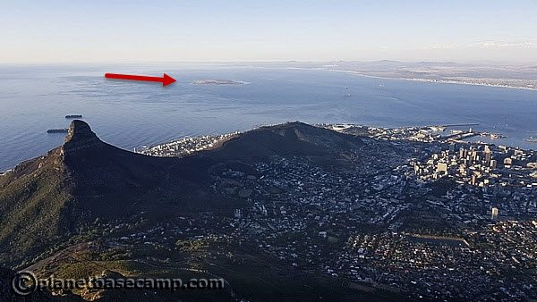 Cape Town - Robben Island - View From Table Mountain