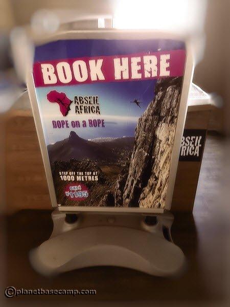 Table Mountain Abseil Ad