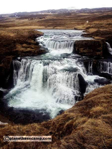Fosslaug River and Waterfall - Iceland