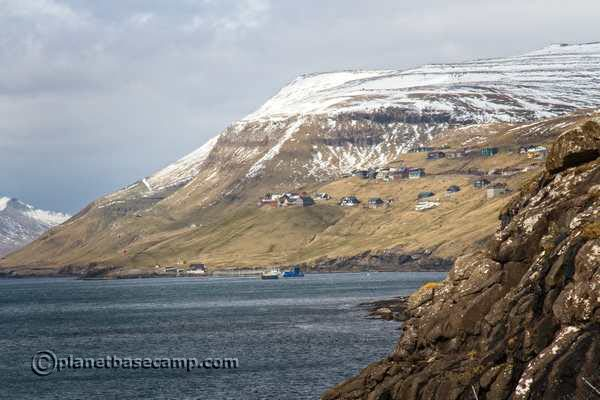 Gamlarætt Ferry Port - View To Velbastaður - One Of The Oldest Settlements In Faroe Islands