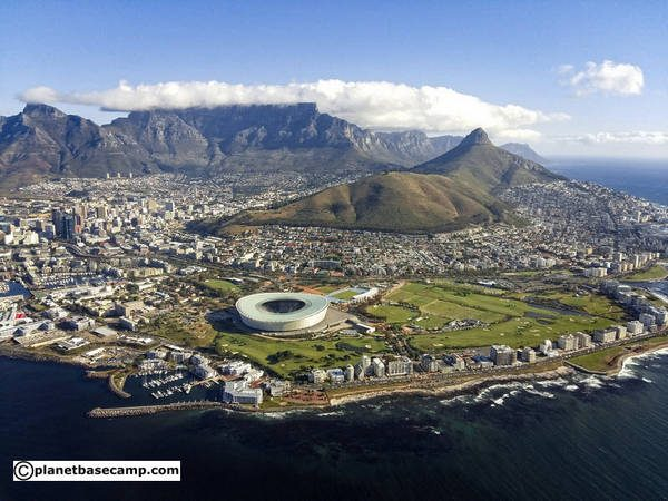 Cape Town & Table Mountain From The Sky