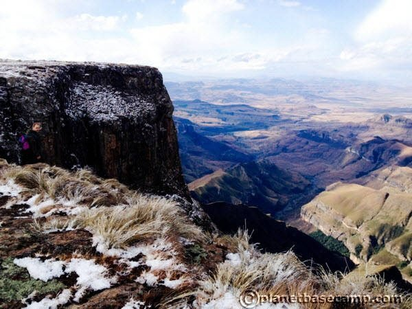 Sentinel Peak - Tugela Falls - View of Tugela Valley Below