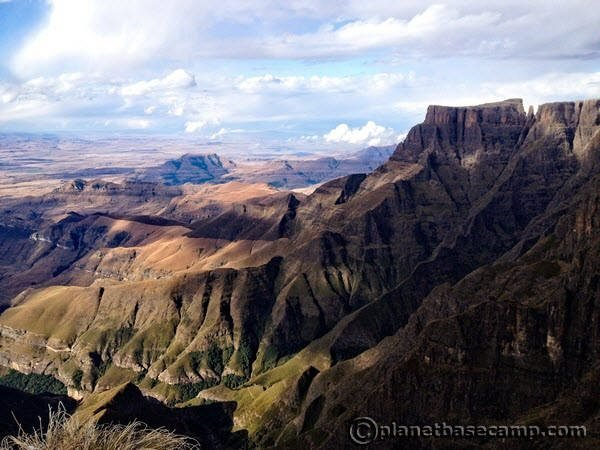 Sentinel Peak - View of Tugela Valley Below