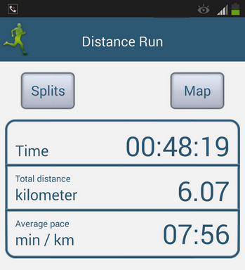 Distance Run App Screen Shot
