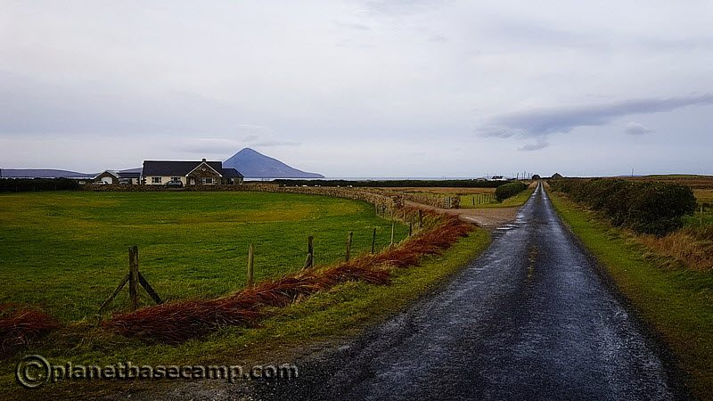 Farm with Achill Island in Background