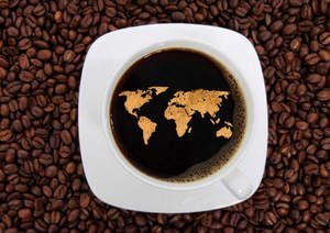Coffee and Travel With World Map